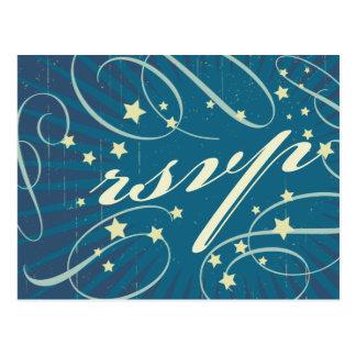 Rustic Poster: Sandy Beach Wedding RSVP Postcard