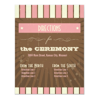 Rustic Poster: Strawberry Mousse Directions 4.25x5.5 Paper Invitation Card