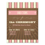 "Rustic Poster: Strawberry Mousse Directions 4.25"" X 5.5"" Invitation Card"