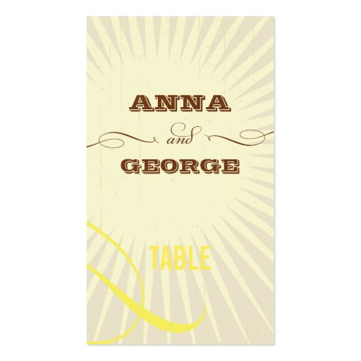 Rustic Poster: Tropical Sun Escort / Gift Tag Business Card