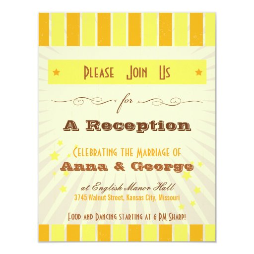 Rustic Poster: Tropical Sun Reception Only Invitations