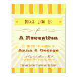 Rustic Poster: Tropical Sun Reception Only 4.25x5.5 Paper Invitation Card