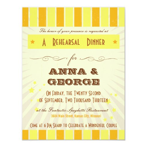 Rustic Poster: Tropical Sun Rehearsal Dinner 4.25x5.5 Paper Invitation Card
