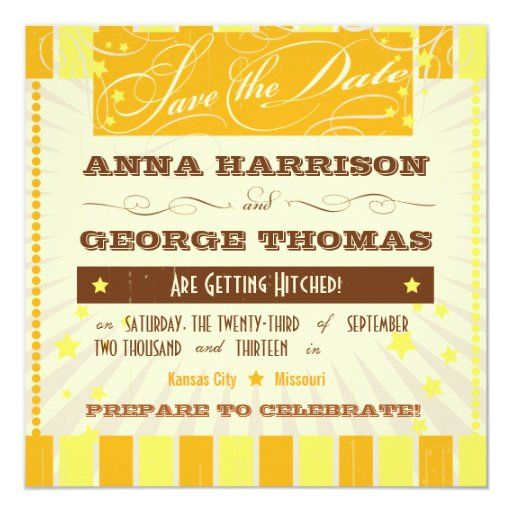 Rustic Poster: Tropical Sun Save the Date 5.25x5.25 Square Paper Invitation Card