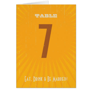 Rustic Poster: Tropical Sun Table Number Greeting Card