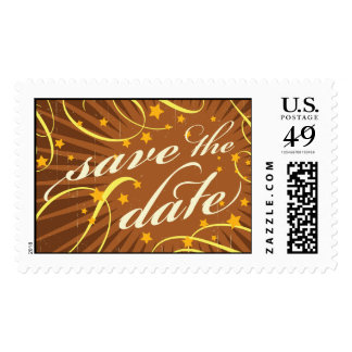 Rustic Poster: Tropical Sun Vintage Save the Date Stamp