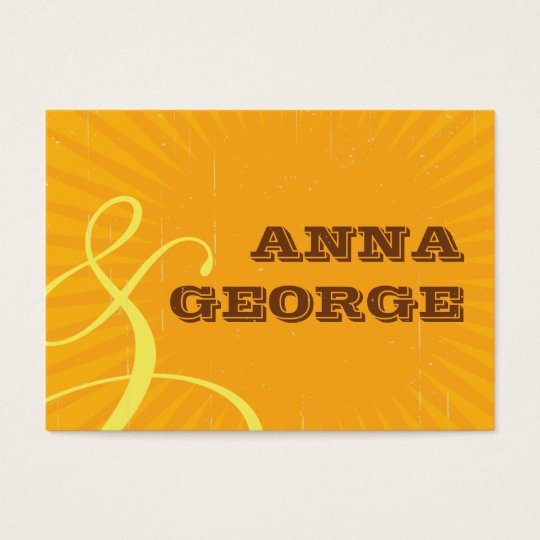 Rustic Poster: Tropical Sun Wedding Website Business Card