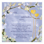 Rustic Powder Blue Wedding Anniversary Invitations