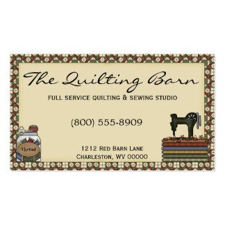 Rustic Primitive Sewing/Quilting Business Card