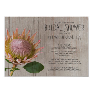 Rustic Protea Bridal Shower Invitations