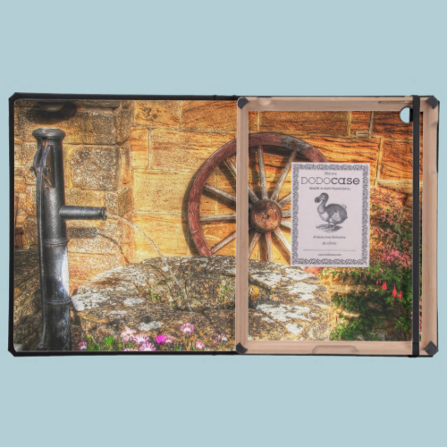 Rustic Pump, Well and Cartwheel scene Cases For iPad