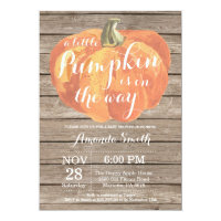 Rustic Pumpkin Fall Baby Shower Invitation Card