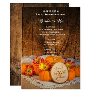 Rustic Pumpkins Fall Bridal Shower Invitation