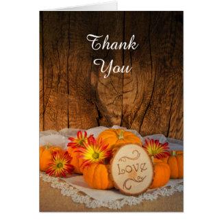 Rustic Pumpkins Fall Bridesmaid Thank You Card