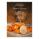 Rustic Pumpkins Fall Wedding 5x7 Paper Invitation Card