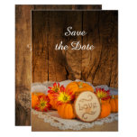Rustic Pumpkins Fall Wedding Save the Date Card