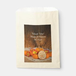 Rustic Pumpkins Fall Wedding Thank You Favor Bag