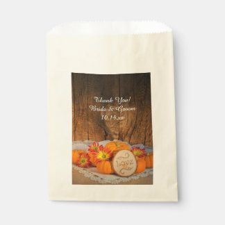 Rustic Pumpkins Fall Wedding Thank You Favor Bags