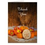 Rustic Pumpkins Fall Wedding Thank You Greeting Card