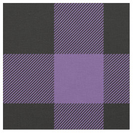 Rustic Purple and Black Buffalo Plaid Fabric