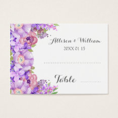 Rustic Purple Lilac Floral Place Setting Cards at Zazzle