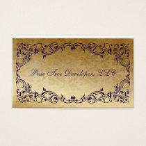 rustic Purple regal Elegant Business cards