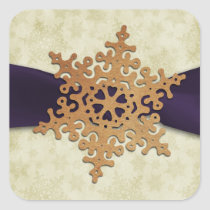 rustic purple snowflake envelope seal