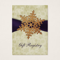 rustic purple snowflakes Gift registry  Cards
