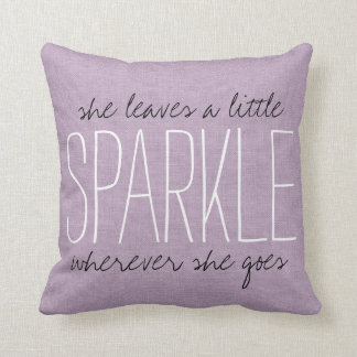 Rustic Purple Sparkle Throw Pillows
