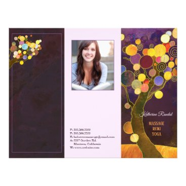 Rustic Purple Trees Tri Fold Business Brochure