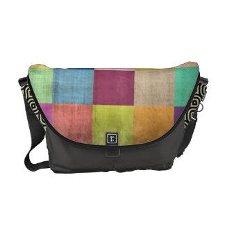 Rustic Quilt Color Block Messenger Bag