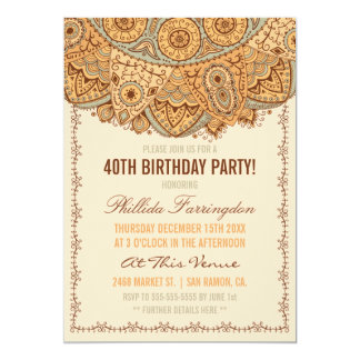 Rustic Rag Doily Birthday Party Card