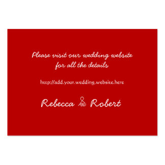 Rustic Red, 100 Wedding Website Enclosure Cards Business Cards