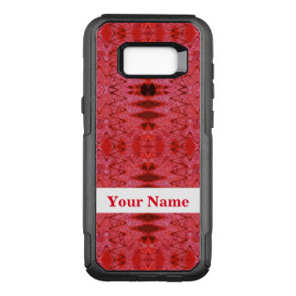Rustic Red Abstract Design OtterBox Commuter Samsung Galaxy S8+ Case