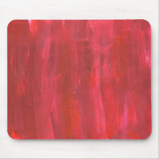 Rustic Red Abstract Mouse Pad