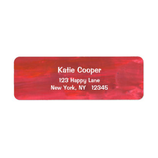 Rustic Red Abstract Return Address Label