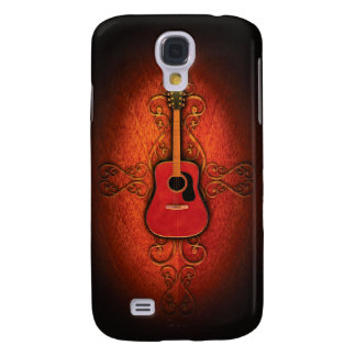 Rustic Red Acoustic Guitar  Galaxy S4 Case