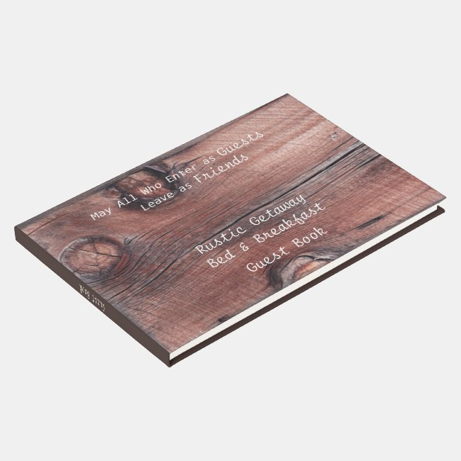 Rustic Red Barn Bed & Breakfast B&B Guest Book