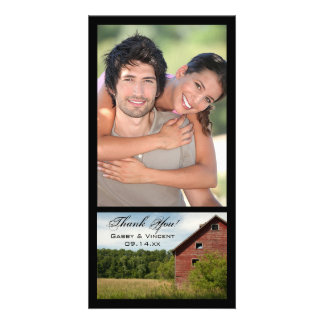 Rustic Red Barn Country Thank You Card