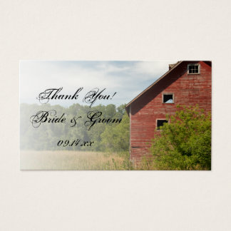 Rustic Red Barn Country Wedding Favor Tags
