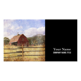 Rustic  Red Barn in Farm Field Business Card