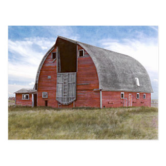 Rustic Red Barn Post Card