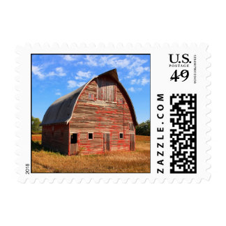 Rustic Red Barn Postage Stamp 1