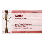 Rustic Red Barn Wood Business Cards
