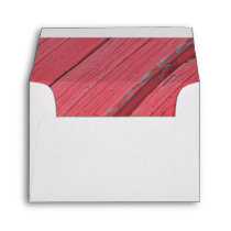 Rustic Red Barn Wood Country Wedding RSVP Card Envelope