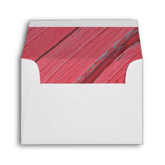 Rustic Red Barn Wood Country Wedding RSVP Card Envelope