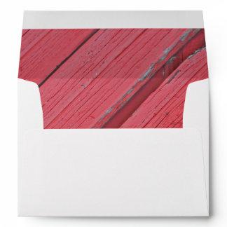Rustic Red Barn Wood Envelope