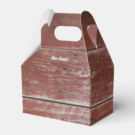 Rustic Red Barn Wood Personalized Favor Box | Zazzle.com