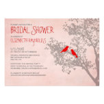 Rustic Red Birds Bridal Shower Invitations Custom Invite
