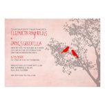 Rustic Red Birds Wedding Invitations Invites